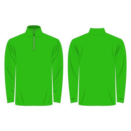 apparel: Half-Zipper long sleeve light green