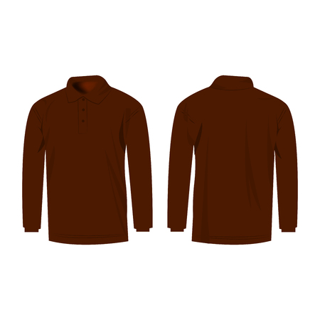 sleeve: brown polo with long sleeve isolated Illustration