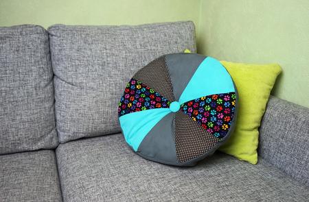 dcor: Hand made patchwork pillow - home decor