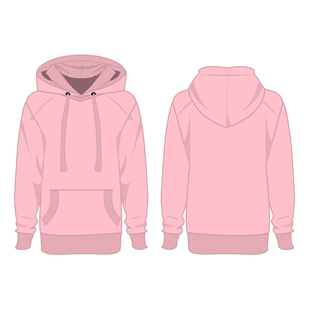 hooded top: Baby pink hoodie isolated vector Illustration