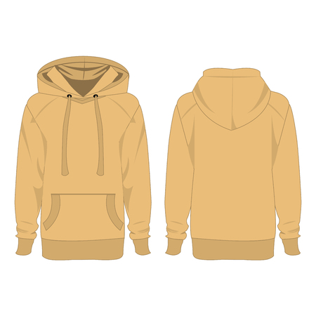 brown shirt: Light brown hoodie isolated vector