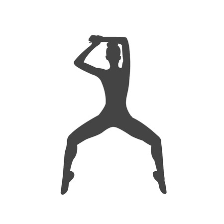 woman sport dance silhouette isolated vector Illustration