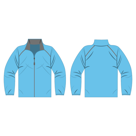 Baby blue autumn, spring et isolated  front and back for promotion advertising