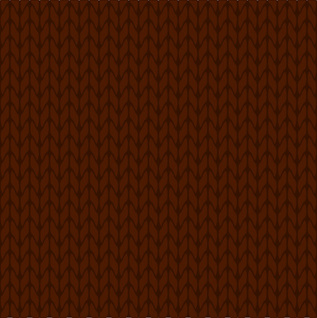 dark fiber: Knitted brown background pattern vector isolated Illustration