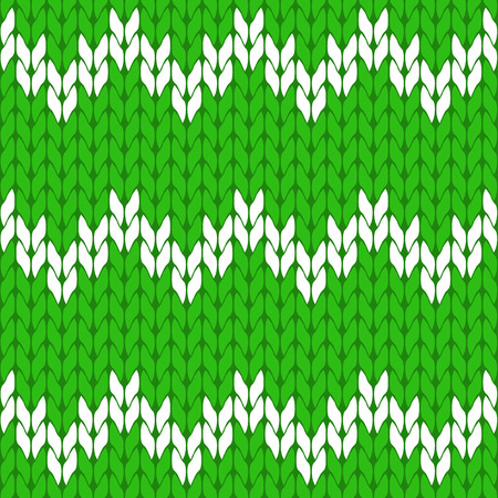 Knitted light green and white background pattern triangle isolated vector