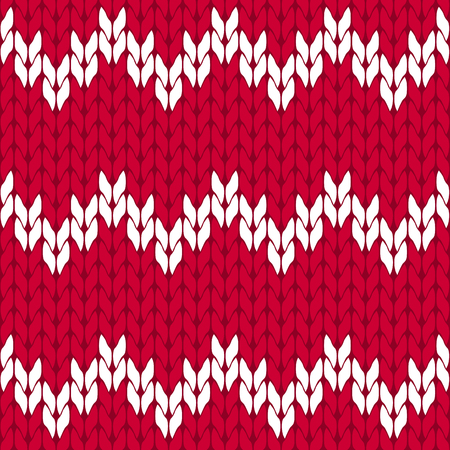 Knitted hot pink and white background pattern triangle isolated vector Illustration