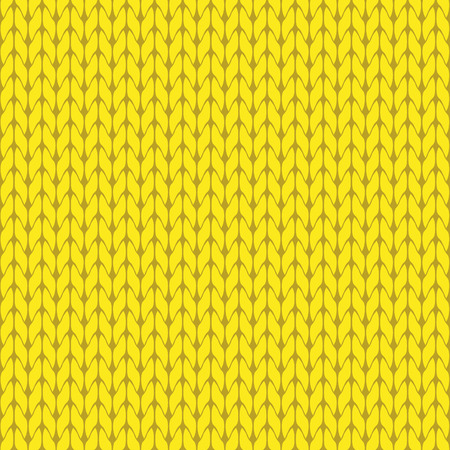 Knitted yellow background pattern vector isolated