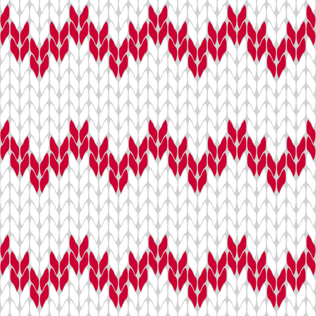 coarse: Knitted white and hot pink background pattern triangle isolated vector Illustration