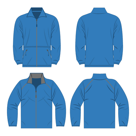 Light blue autumn, spring fleece jacket
