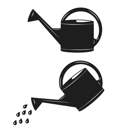 Watering can isolated vector icon. Irrigation symbol.