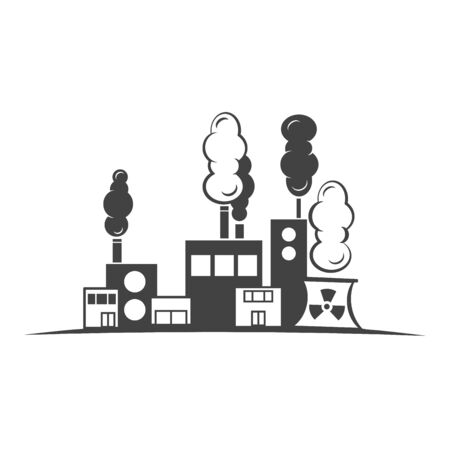 Factory industry icon isolated Vector illustration.