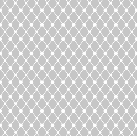 Geometric textile pattern with circles. Vector illustration Çizim