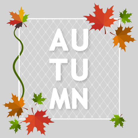 Autumn background banner vector