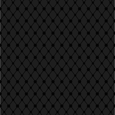 Black geometric textile pattern with circles. Vector illustration