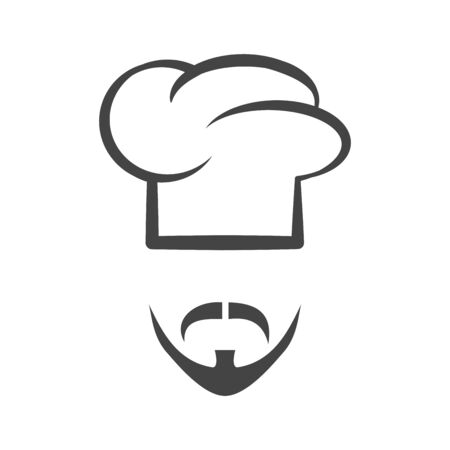 Chef cap with mustache and beard Stok Fotoğraf - 85018762