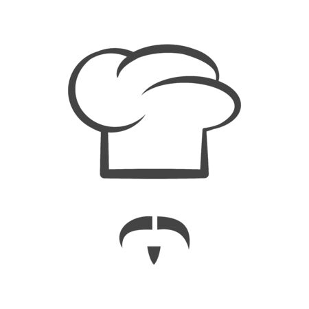 Chef cap with mustache and beard Stok Fotoğraf - 85018764