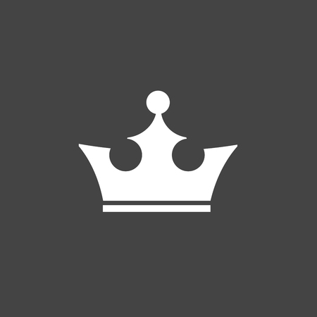 Crown icon on black background.