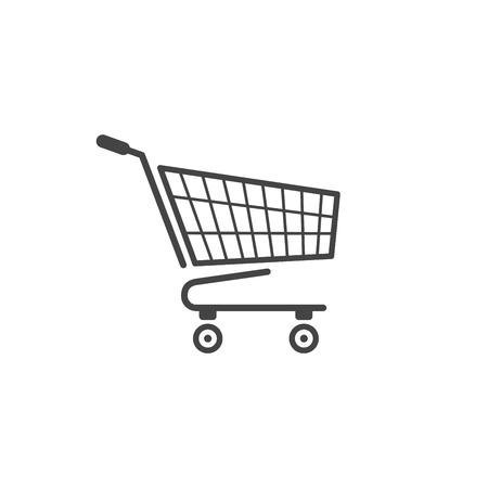 Shopping cart icon isolated on white background.