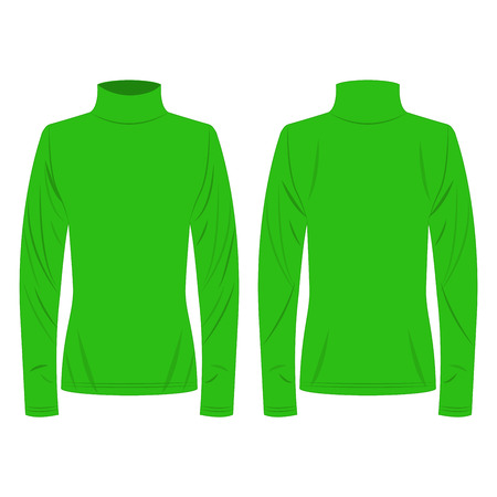 Light green polo neck isolated vector on the white background Banco de Imagens - 122591919