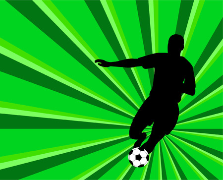 silhouette of soccer player   Stock Vector - 8615153