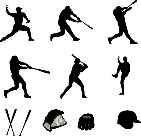 Baseball-Spieler-Auflistung  Illustration