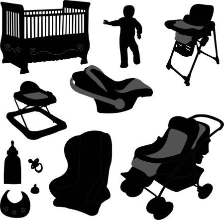 baby equipment  Vector