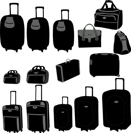 travel bag and suitcase  Stock Vector - 8964911