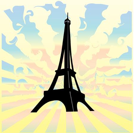 eifel: eiffel tower vith background