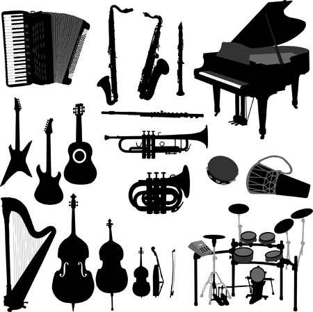 jazz club: instruments de musique 2 - vecteur