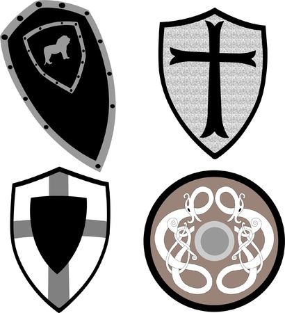 set collection of shield Vector