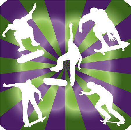 silhouette of skater