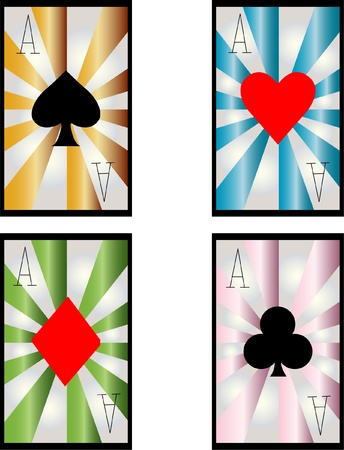 four aces of different card