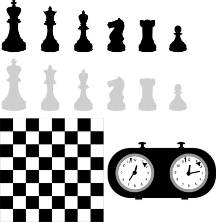 chess rook: chess set Illustration