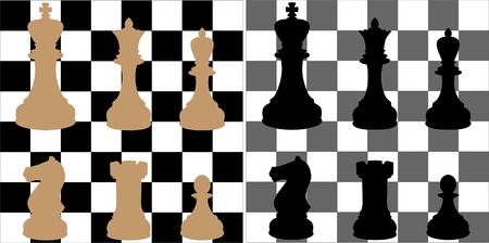 chess board with figures -