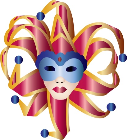 decoration decorative disguise: vanetian ball mask 3  Illustration
