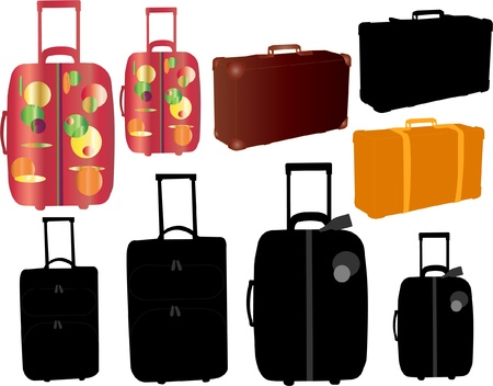 travel bags and suitcase
