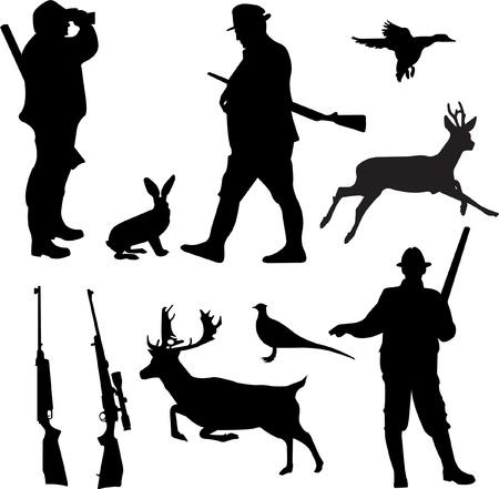 cazador: siluetas de colecci�n de caza