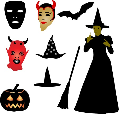 halloween set - vector Illustration