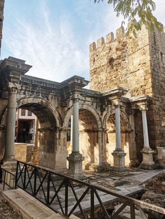 Antalya, Turkey. Hadrians Gate-Arc de Triomphe in the old town