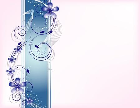 blue floral: floral background
