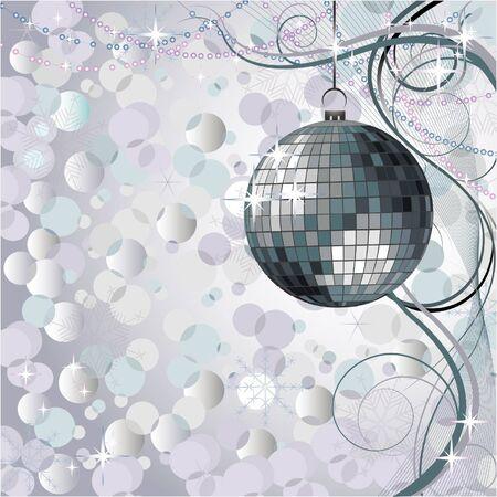 Silver Christmas romantic design Vector