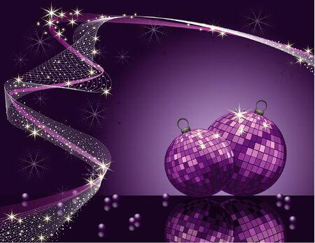 Violet vector Weihnachten romantische Design