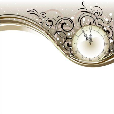 horloge ancienne: Conception de No�l romantique avec horloge antique