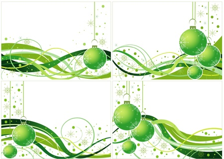 Green vector Christmas design Stock Vector - 15181912