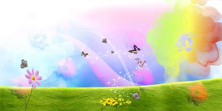 beautifu: Beautiful brilliant coloured floral background