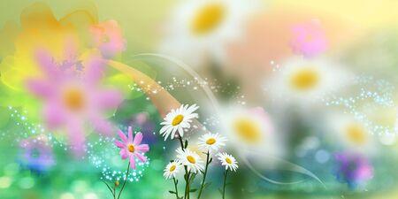 beautifu: Beautiful spring coloured floral background Stock Photo
