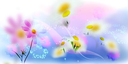 beautifu: Beautiful spring coloured floral background Stock Photo