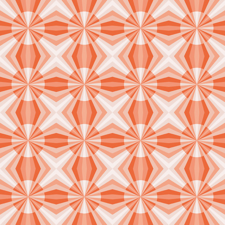 Seamless geometric pattern with red and pink stars and circles.