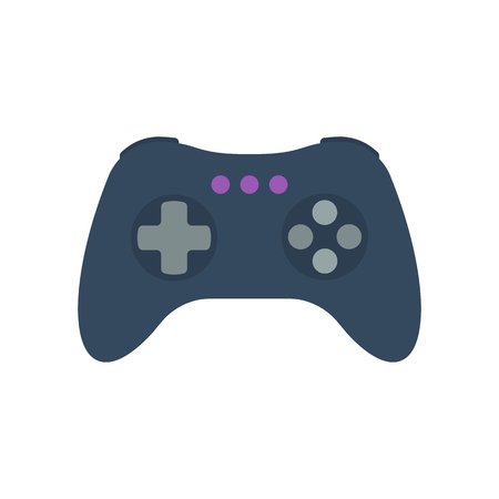 Isolated colored gamepad, game controller, joystick, console on white background. Flat design icon Illustration
