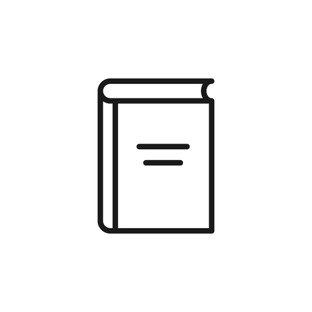 Black isolated outline icon of book on white background. Line Icon of book